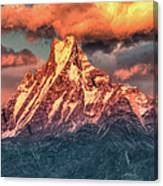 Machapuchare Mountain, Fish Tail In Canvas Print