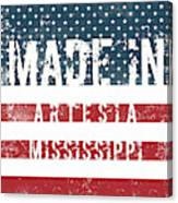 Made In Artesia, Mississippi Canvas Print