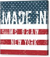 Made In Mc Graw, New York Canvas Print