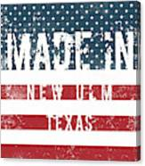 Made In New Ulm, Texas Canvas Print