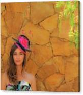 Mamin With Hat Canvas Print