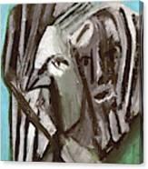 Man And A Bird Canvas Print