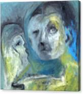 Man And Bird Canvas Print