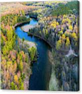 Manistee River From Above In Spring Canvas Print