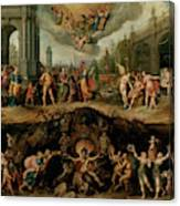 Mankind's Eternal Dilemma, The Choice Between Virtue And Vice Canvas Print