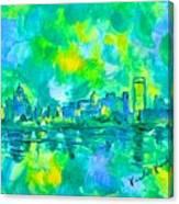 Memphis Green Canvas Print