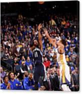 Memphis Grizzlies V Golden State Canvas Print