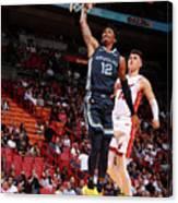 Memphis Grizzlies V Miami Heat Canvas Print
