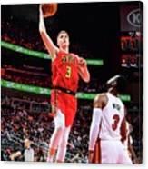 Miami Heat V Atlanta Hawks Canvas Print