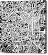 Milan Italy City Map Canvas Print