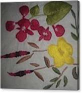 Moms Hand Embroidery Canvas Print