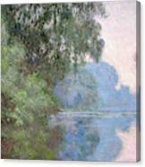 Morning On The Seine Near Giverny, 1897 Canvas Print