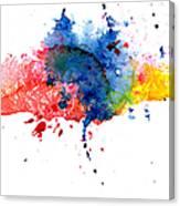 Multicolored Splashes Canvas Print