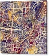 Munich Germany City Map Canvas Print