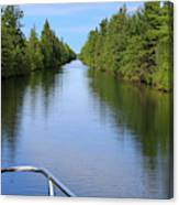 Narrow Cut On The Trent Severn Waterway Canvas Print