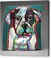 Neon Bulldog Canvas Print