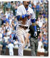 New York Mets V Chicago Cubs Canvas Print