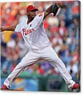 New York Mets V Philadelphia Phillies Canvas Print