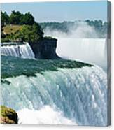 Niagara Falls From The Usa Side Canvas Print