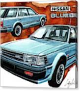 Nissan Bluebird Sw Canvas Print