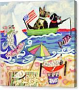 Patriotic Puppies Canvas Print
