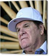 Pete Rose Speaks To Media After 1 Canvas Print
