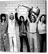 Photo Of Aerosmith And Tom Hamilton And Canvas Print