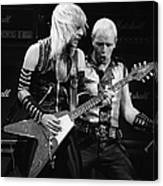Photo Of Judas Priest And Rob Halford Canvas Print
