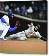 Pittsburgh Pirates  V Chicago Cubs Canvas Print
