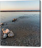 Platte River Mouth At Sunset Canvas Print