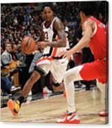 Portland Trail Blazers V La Clippers Canvas Print