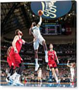 Portland Trailblazers V Dallas Mavericks Canvas Print