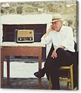 Portrait Of A Senior Man Canvas Print