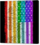 Rainbow Us Flag Canvas Print