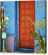 Red Door Adobe Canvas Print