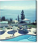Relaxing At Lake Tahoe Canvas Print