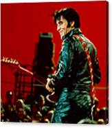 Rock And Roll Musician Elvis Presley Canvas Print