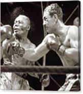 Rocky Marciano Defeats Jersey Joe Canvas Print