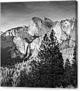 Rocky Mountains Overlooking Rural Canvas Print