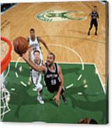 San Antonio Spurs V Milwaukee Bucks Canvas Print