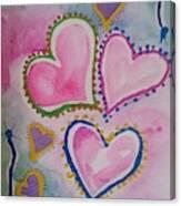 Seven Hearts Canvas Print
