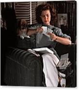 Shirley Temple At Home Canvas Print
