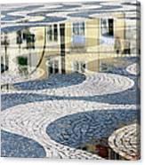 Sidewalk In Lisbon, Portugal Canvas Print