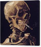 Skull With Cigarette  Canvas Print