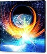 Solar Flare, Conceptual Artwork Canvas Print