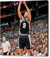 Spurs V Lakers Canvas Print