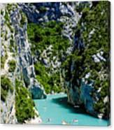 St Croix Lake, Les Gorges Du Verdon Canvas Print