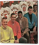 St. Louis Cardinals, 1968 World Series Champions Sports Illustrated Cover Canvas Print