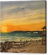 Sunset On Bradenton Beach, Fl. Canvas Print