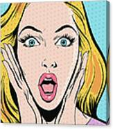 Surprised Woman Canvas Print